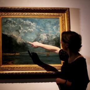 """Gustave Courbet, """"Vue du Lac Léman"""". N°791"""