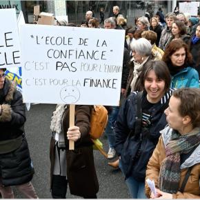 Mobilisations contre la loi Blanquer, à Rennes, Cuguen, Saint-Domineuc, ...
